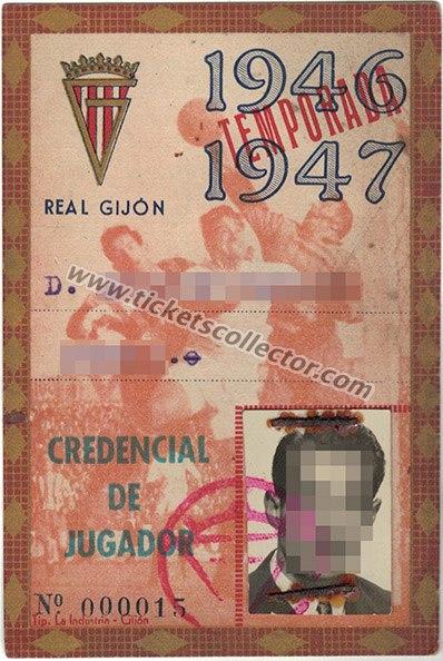 1946 Credencial de Jugador