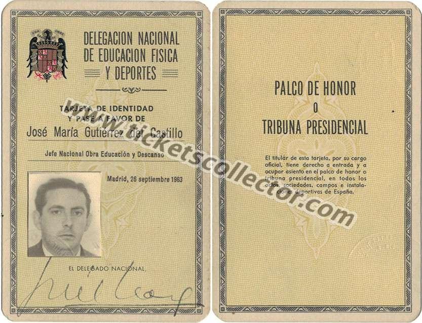 1963 Jefe Nacional Obra Educación y Descanso
