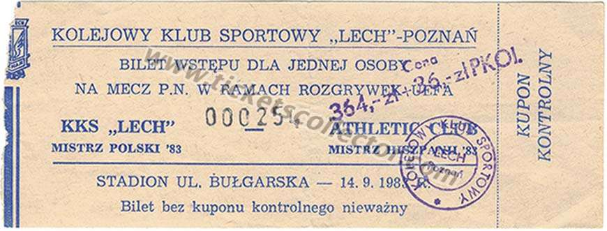 C1 1983-84 Lech Poznan Athletic