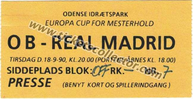 C1 1990-91 Odense Real Madrid