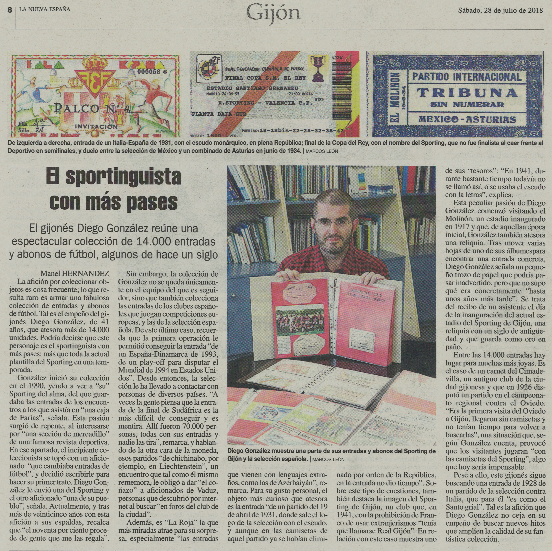 2018-07-28 Diario La Nueva España
