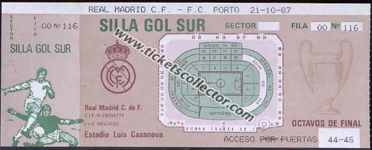C1 1987-88 Real Madrid Oporto