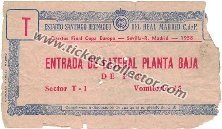 C1 1957-58 Real Madrid Sevilla