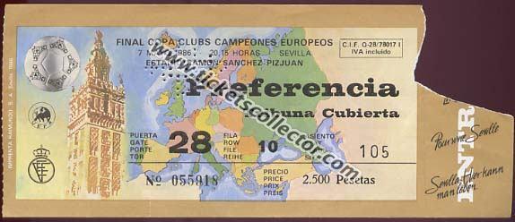 C1 1985-86 Barcelona Steaua Bucarest