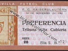 C3 1982-83 Sevilla Kaiserlautern