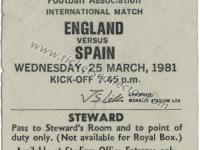 1981 Inglaterra España