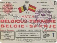 1951 Bélgica España