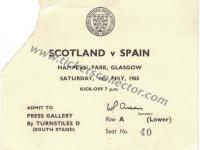 1965 Escocia España