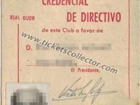 1962 Credencial de Directivo