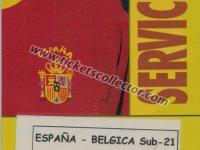 2004 España Bélgica Sub 21