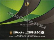 2016 España Luxemburgo