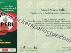 2008 España Perú