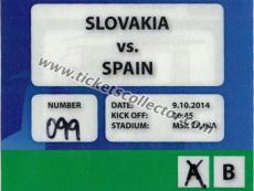 2014 Eslovaquia España