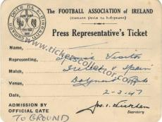 1947 Irlanda España