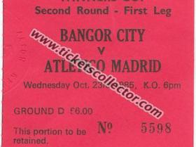 C2 1985-86 Bangor City Atlético de Madrid