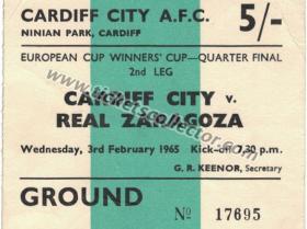 C2 1964-65 Cardiff Zaragoza