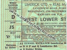 C1 1980-81 Limerick Real Madrid