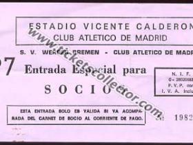C3 1986-87 Atlético de Madrid Werder Bremen