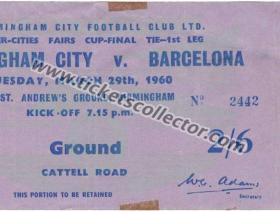 C3 1959-60 Birmingham Barcelona