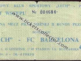 C2 1988-89 Lech Poznan Barcelona
