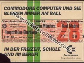 C1 1986-87 Bayern Munich Real Madrid
