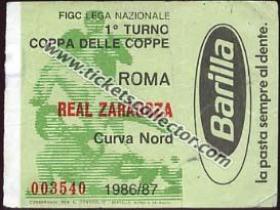C2 1986-87 Roma Zaragoza