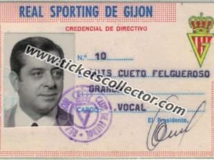 1974 Credencial de Directivo