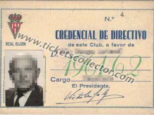 1961 Credencial de Directivo