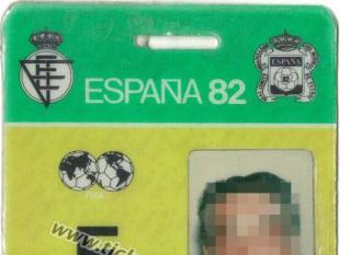 1982 Acreditación Fotógrafo España 82
