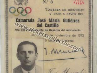 1943 Jefe del Departamento de Deportes del Movimiento