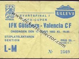 C3 1981-82 Goteborg Valencia