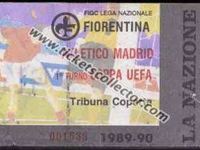 C3 1989-90 Fiorentina Atlético de Madrid
