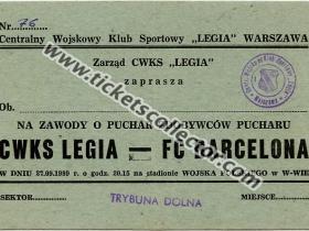 C2 1989-90 Legia Varsovia Barcelona