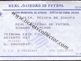 C2 1987-88 Real Sociedad Dinamo Minsk
