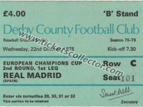 C1 1975-76 Derby County Real Madrid
