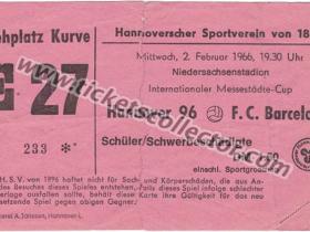 C3 1965-66 Hannover 96 Barcelona
