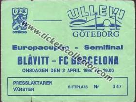 C1 1985-86 Goteborg Barcelona