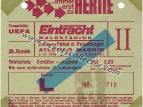 C2 1975-76 Eintracht Frankfurt Atlético de Madrid