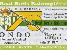C3 1982-83 Betis Benfica