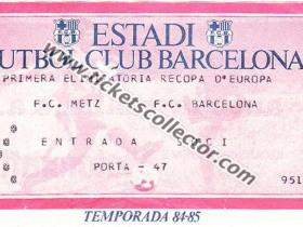 C2 1984-85 Barcelona Metz